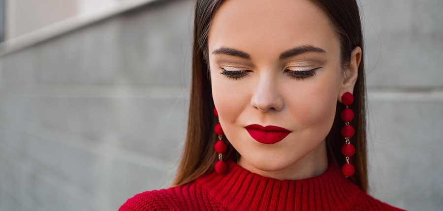 Belleza maquillaje de labios