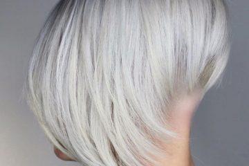 Corte de pelo pixie blanco