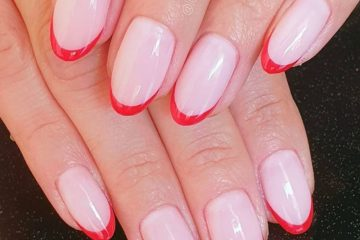 Manicura francesa con color