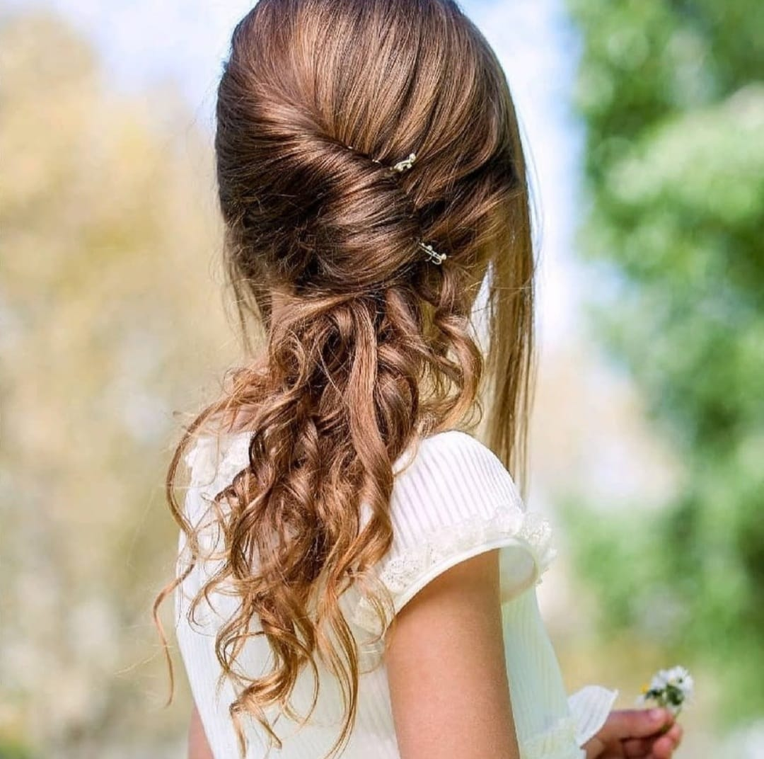 Peinados niña comunión a domicilio